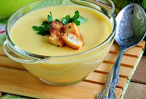 кабачковый суп пюре