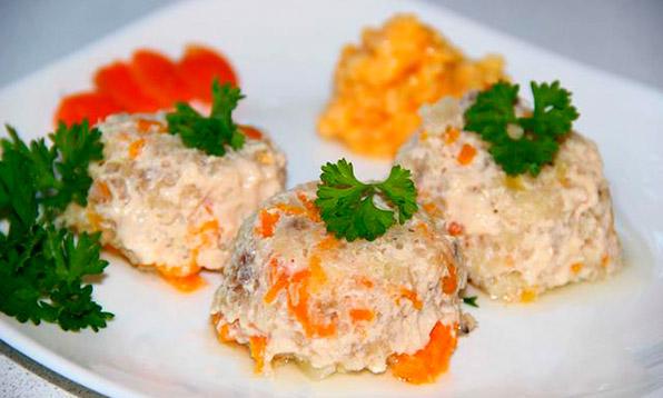 суфле из рыбы с морковью