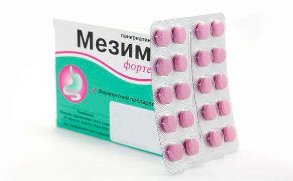 таблетки мезима при панкреатите