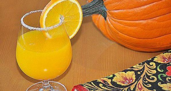 тыквенный напиток с апельсином