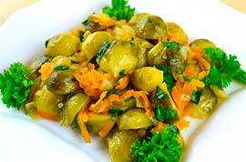 брюссельская капуста с морковью