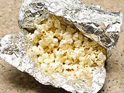 попкорн в фольге