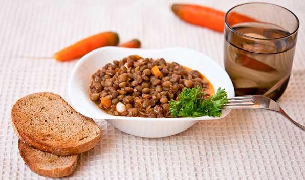 блюдо из чечевицы