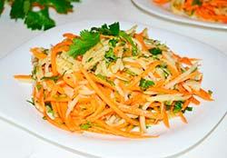 салат из топинамбура и моркови