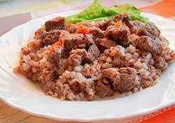 каша с мясом
