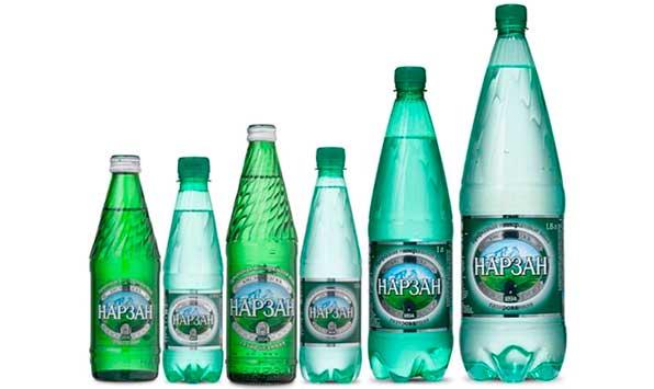 бутылки нарзана