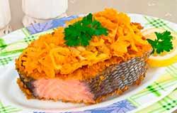 запеченая рыба с морковью
