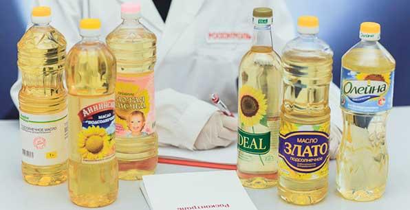 бутылки масла