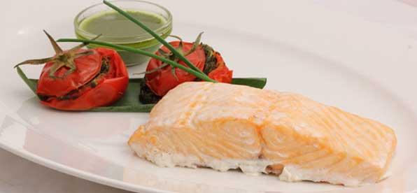 Блюдо из семги