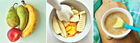 пюрированные фрукты