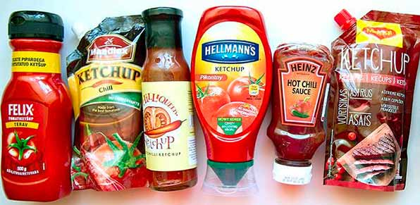 Упаковки с кетчупом