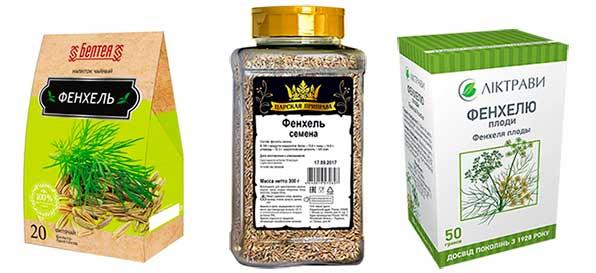 Упаковка семян фенхеля