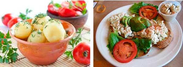 Тушеные и отварные овощи