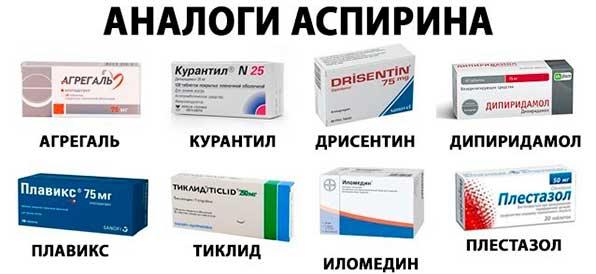 Аналоги Аспирина