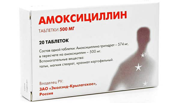Упаковка таблеток Амоксициллин